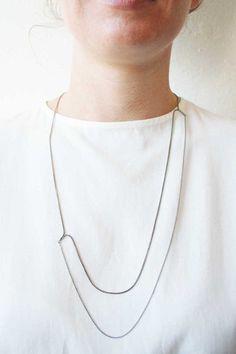 B4-SFL necklace black silver by Naoko Ogawa