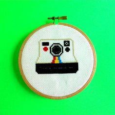 Polaroid cross stitch.