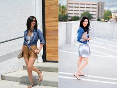 love her simple summer street style #fashion