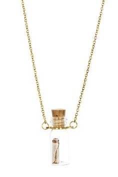 $16 was $64 love this Message in a Bottle Necklace cam and zooey jewelry on hautelook.com