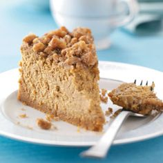 Pumpkin Walnut Cheesecake - bet you can't eat just one slice (wink, wink).