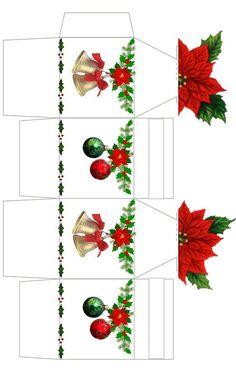 Box Template Printable, Paper Box Template, Box Templates, Christmas Gift Box, Christmas Paper, Christmas Time, Xmas Crafts, Christmas Projects, Paper Crafts