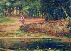 Клевер Ю. Ю. Девочка с хворостом в дубовом лесу