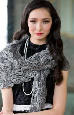 Free Crochet Shades of Grey Scarf Pattern