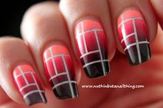 Salons Direct: Striping tape gradient and tutorial