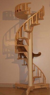 Spiral Cat Trees/Stairs - Real Cabinet-Grade Pine, handmade in USA | Pet Supplies, Cat Supplies, Furniture & Scratchers | eBay!