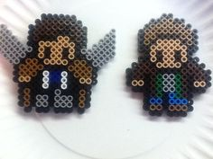 Destiel (Dean Winchester and Castiel) Perler Bead Magnet Set by PlushiesPlushiesOhMy