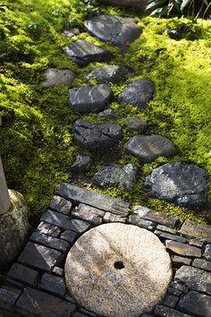 奈良県A邸 苔と源流 Japanese Garden Landscape, Japanese Garden Design, Chinese Garden, Moss Garden, Garden Art, Japan Garden, Japanese Aesthetic, Ponds Backyard, Japanese Architecture