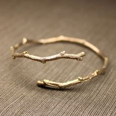 Twiggy Open Bangle in Rose Gold Vermeil. Pretty!