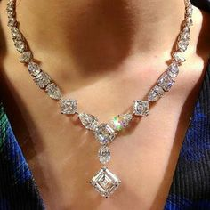 Ravishing fancy-shape diamond necklace available for purchase at #ChristiesPrivateSales via @mei_christies