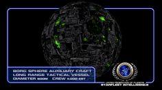 #STARFLEET INTELLIGENCE | A #Borg sphere; auxiliary craft | #StarTrek