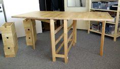 Ikea Norden Table, Norden Gateleg Table, Table Ikea, Diy Table, Ikea Folding Table, Ikea Fold Down Table, Diy Storage Trunk, Table Camping, Kitchen Ikea