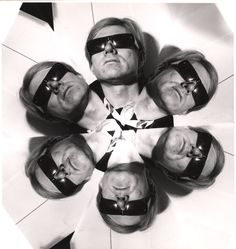 On Weegee Wednesday, It's all about the kaleidoscope effect.   Andy Warhol by Weegee