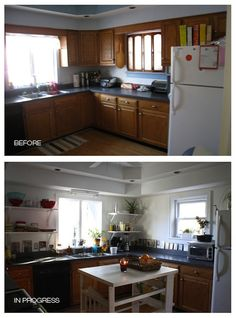 Before and In Progress Kitchen
