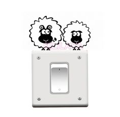 Fairy Stickers Switch Cover Socket Switch Wall Light Room Decoration Gift Party