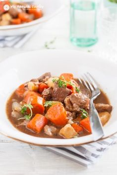 Slow Cooker Beef Stew Recipe {Paleo, Clean Eating, Whole30, Gluten Free, Dairy Free}