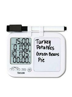 Timer and whiteboard - perfect for the kitchen!