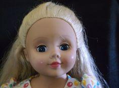 "Madame Alexander 18"" Doll American Girl Friend Size, Long Blonde Hair Blue Eyes #Dolls"