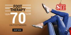 Voonik.com brings to all a wonderful deal, where you get up to 70% off on women's footwear. One can pick from various types of footwear like flats, bellies and lot more. So without delaying anymore, just hurry and avail this offer. Store Name:Voonik.com Deal: Minimum of 50% off Shipping charges: Free Offer: For limited period ...