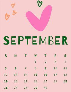 Cute September 2021 Calendar September Calendar, 12 Month Calendar, Cute Calendar, Kids Calendar, 2019 Calendar, Calendar Design, Calendar Printable, Time Management Tools, Calendar Wallpaper
