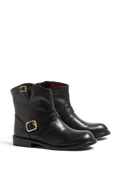 Marc by Marc Jacobs Workwear Flat Ankle Boot, $452.28, available at My Wardrobe. #refinery29 http://www.refinery29.com/37741#slide-12