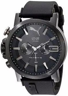 7bfc6dd0580 relógio puma ultrasize built bold -original imp.eua - black