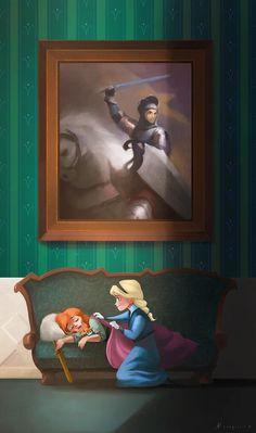 Elsa and Anna.