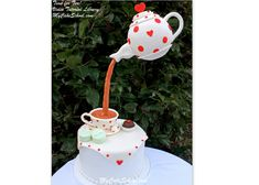 Time for Tea! A Gravity Defying cake with Suspended Teapot Decoration~ Video