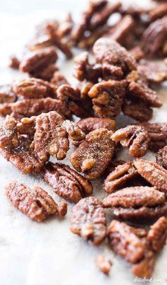 Pecan Yams Recipe, Candied Pecans Recipe, Roasted Pecans, Candied Nuts, Butter Toffee Pecans Recipe, Pecan Recipes, Candy Recipes, Sweet Spice, Recipes
