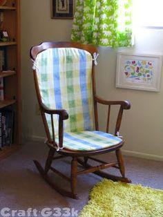 Rocking chair cushions on pinterest rocking chair covers chair slipcovers and childs rocking - Rocking chair cushion diy ...