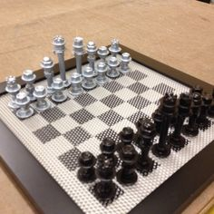 Nut & bolt chess set made from stuff at my local hardware store