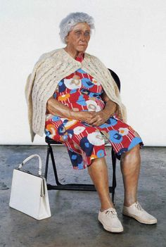 Duane Hanson, Old Lady in Folding Chair, 1976 ©