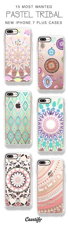 Pastel tribal is here! 15 Most Wanted Boho Tribal iPhone 7 Cases / iPhone 7 Plus Cases and other Phone Cases here > https://www.casetify.com/artworks/voolMpeRn2