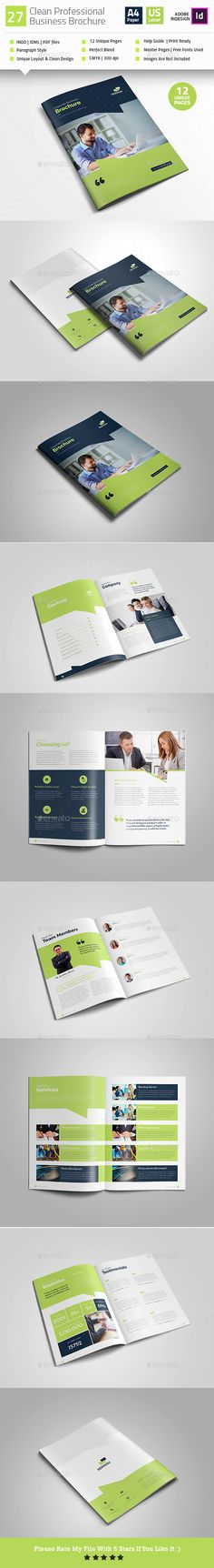 #Professional #Business #Brochure V35 - Corporate Brochures Download here: https://graphicriver.net/item/professional-business-brochure-v27/19248319?ref=alena994