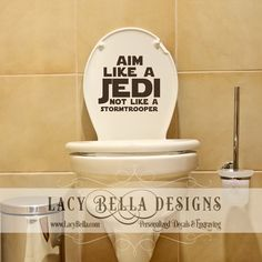 Aim like a Jedi not like a stormtrooper  vinyl wall decal geek  sc 1 st  Pinterest & 61 best Bathroom Decals images on Pinterest | Bathroom decals Vinyl ...