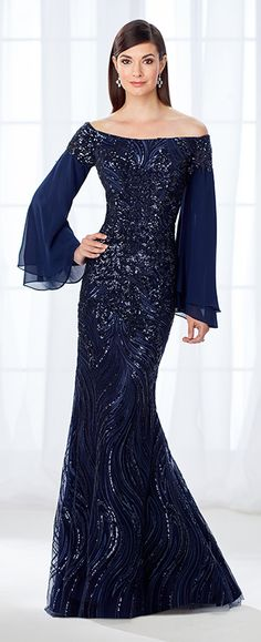 A force to be reckoned with, this glamorous off-the-shoulder chiffon, tulle, and. Formal Evening Dresses, Formal Gowns, Evening Gowns, Groom Outfit, Groom Dress, Pretty Dresses, Beautiful Dresses, Womens Dress Suits, Mob Dresses