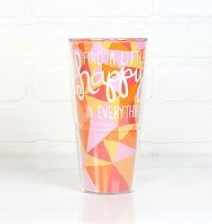 24oz HAPPY EVERYTHING SLICE TERVIS TUMBLER WITH WHITE LID