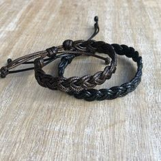 Items similar to Cocoa Beach, Couples Bracelets, Braided Bracelets Set, His and Hers Black and Brown Waterproof on Etsy Braided Bracelets, Metal Bracelets, Bracelets For Men, Black Bracelets, Leather Cuffs, Leather Jewelry, Metal Jewelry, Cowgirl Jewelry, Gothic Jewelry