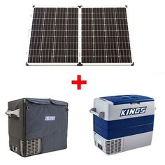 Adventure Kings 160w Solar Panel + Adventure Kings 60L Fridge/Freezer + 60L Fridge/Freezer Cover Camping Fridge, Camping Needs, Campervan, Solar Panels, Solar Power, Freezer, Adventure, Cover, Solar Energy