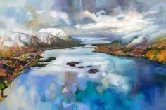 Loch Leven - Scott Naismith (Signed Limited Edition Giclee on Paper) - Buy online here at the Enid Hutt Gallery - Loch Leven - Scott Naismith (Signed Limited Edition Giclee on Paper) -
