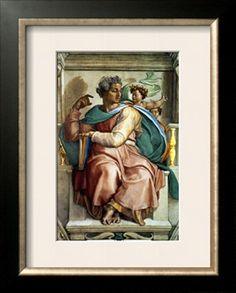 Michelangelo... Sistine Chapel Michelangelo, Apostolic Palace, Sistine Chapel Ceiling, Prophet Isaiah, Renaissance Artists, Fresco, Find Art, Framed Artwork, Giclee Print