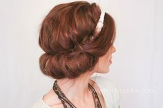 The Freckled Fox - a Hairstyle Blog: Festival Hair Week: Easy Headscarf Roll -- cute and so easy!