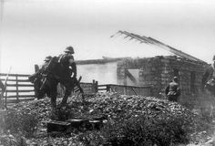 Romanian soldiers assault Soviet positions in Bessarabia, July 1941.