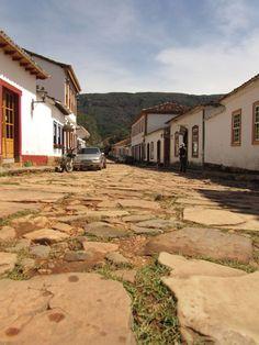 Straßenpflaster in Tiradentes
