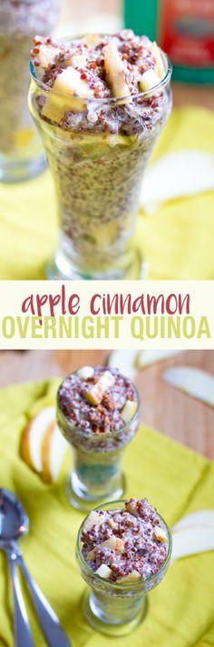 Quick breakfast before work: Apple Cinnamon Overnight Quinoa