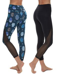 Get ready to get hands on in the new reversible Chandrasana Leggings that look amazing in and out of the studio. Super soft and high-stretch, they are so comfortable you may not want to take them off. Fully opaque both printed and black side out, the interlock knit fabric with mesh panels on the calf looks amazing for yoga, Pilates and more.