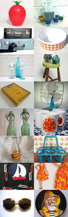 The French Vintage Team - Summer in France... Un été en pente douce by Val and Jeff on Etsy--Pinned with TreasuryPin.com #Etsy #FrenchVintage #French #vintage #France #VintageFinds #retro #summer #vintagefr