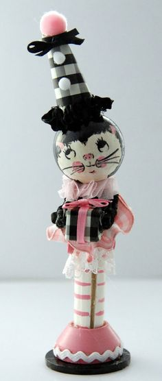 Dolly Dingle kitty clothespin doll by Lallygag
