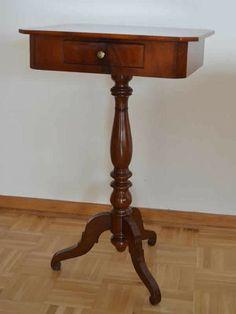 Tischchen Biedermeier Nähtisch Beistelltisch von Pepita Antique Vintage Negozio auf DaWanda.com