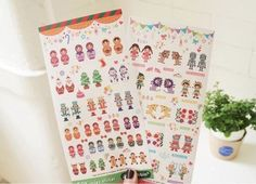 Aliexpress.com : Buy Wholesale Cartoon DIY Sticker Diary Sticker Decoration Paging Sticker Russain Doll design 2 sheets/bag 20bags/lot Free shipping from Reliable sticker decor suppliers on ELSOL Fairy Store | Alibaba Group